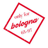 Only For Bologna rubber stamp Stock Photo
