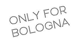 Only For Bologna rubber stamp Royalty Free Stock Photos