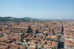 Bologna's cathedral seen in a panorama of the cit Royalty Free Stock Photos