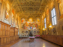 Bologna - Sacristy of baroque church San Michele in Bosco. Stock Photos