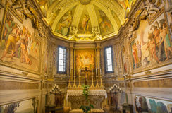 Bologna - sacristy of baroque church San Michele in Bosco. Royalty Free Stock Images