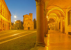 Bologna - Saint Stephen square and church Royalty Free Stock Photography