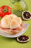 Bologna sandwich Stock Photography
