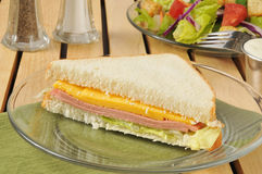 Bologna sandwich with a salad Royalty Free Stock Photography