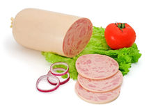 Bologna sausage with ham Royalty Free Stock Photo