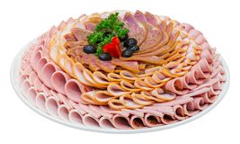 Bologna sausages Royalty Free Stock Photo