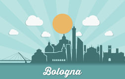 Bologna skyline - Italy - vector illustration Stock Images