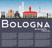 Bologna Skyline with Landmarks, Blue Sky and Copy Space. Royalty Free Stock Photography