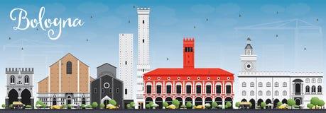 Bologna Skyline with Landmarks and Blue Sky. Royalty Free Stock Image