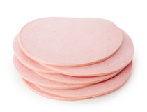 Bologna Slice Isolated On White Background Cutout Royalty Free Stock Image