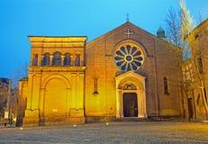 Bologna - St Dominic eller San Domenico barockkyrka arkivbilder