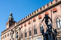 Bologna stara grodzka ulica Obrazy Royalty Free