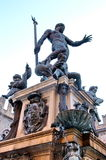 Bologna - Statue of Neptune. The decorative fountain erected on the main square in Bologna. Several models in clay and bronze record its evolution. With a Stock Photos