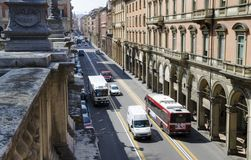 Bologna street, Italy. Street and an archways in Bologna center, Italy Stock Photography
