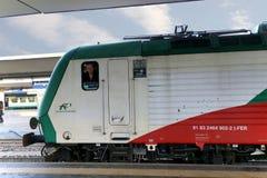 Bologna - Styczeń 2015: lokomotoryczny kierowca na Styczniu 03, 2015 w Bologna, Włochy Zdjęcie Royalty Free