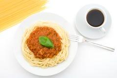 Bologna-style Spaghetti Stock Image