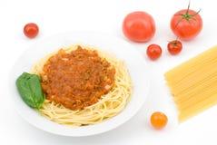 Bologna-style Spaghetti Stock Photography