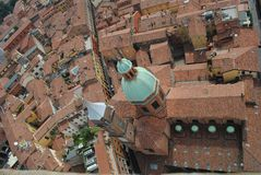 Bologna tilted cityscape Royalty Free Stock Images