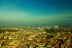 BOLOGNA FROM THE TORRE DEGLI ASINELLI Royalty Free Stock Image