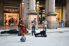 Bologna uliczny zespół Obrazy Stock