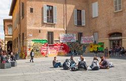 Bologna una città nel colore rosso Fotografie Stock