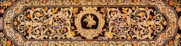 Bologna - une partie d'autel latéral de certosa baroque de della de San Girolamo d'église Photos libres de droits