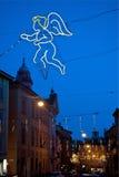 Bologna, Via Castiglione, night Stock Images