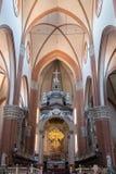 Bologna, interior of the Basilica of San Petronio Stock Photos