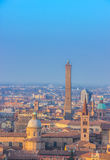 Bologna view. Towers of Bologna Stock Image
