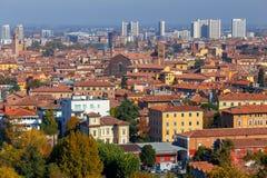 bologna Vogelperspektive der Stadt stockfotos