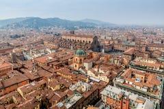 Bologna von Asinelli-Turm Stockfotografie