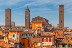 bologna Vue aérienne de la ville Image stock