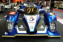 BOLOGNA, WŁOCHY - 2 Peugeot GRUDZIEŃ 2010 eksponowali przy Bologna Motorowym przedstawieniem 908 HDI FAP 2010 24 godziny Le Mans obraz stock