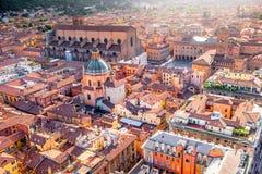 Bolognacityscapesikt Arkivfoton