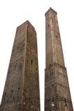 bolognaen italy towers två Fotografering för Bildbyråer
