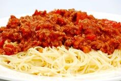 Bolognaise degli spaghetti Fotografia Stock