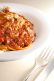 Bolognaise Pasta Stock Photography