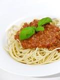 bolognaise spaghetti obrazy stock