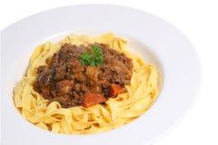 bolognaisespagetti arkivbilder