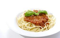bolognaisespagetti royaltyfri bild