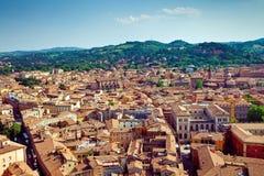 Bolognastadssikt royaltyfri bild