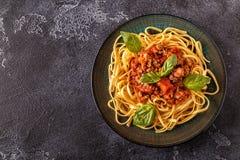 bolognese итальянские макаронные изделия Стоковое Фото