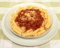 bolognese макаронные изделия Стоковое Фото