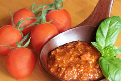 bolognese соус мяса Стоковое Фото