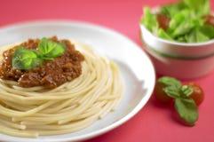 bolognese спагетти Италии Стоковая Фотография