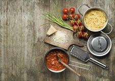 bolognese спагетти соуса Стоковые Фотографии RF