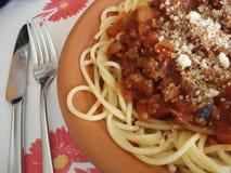 bolognese спагетти Стоковая Фотография RF