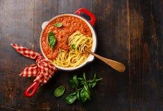 bolognese спагетти Стоковая Фотография
