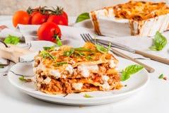 bolognese klassisk lasagna Royaltyfri Foto