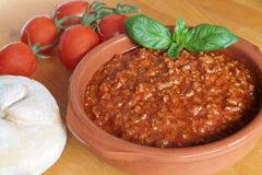 Bolognese meat sauce stock image